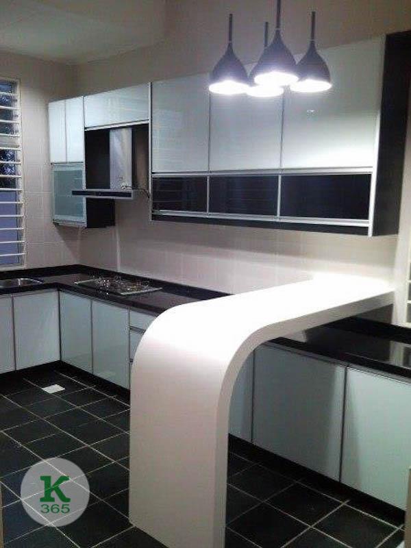 Черно-белая кухня Алвиз артикул: 20753567