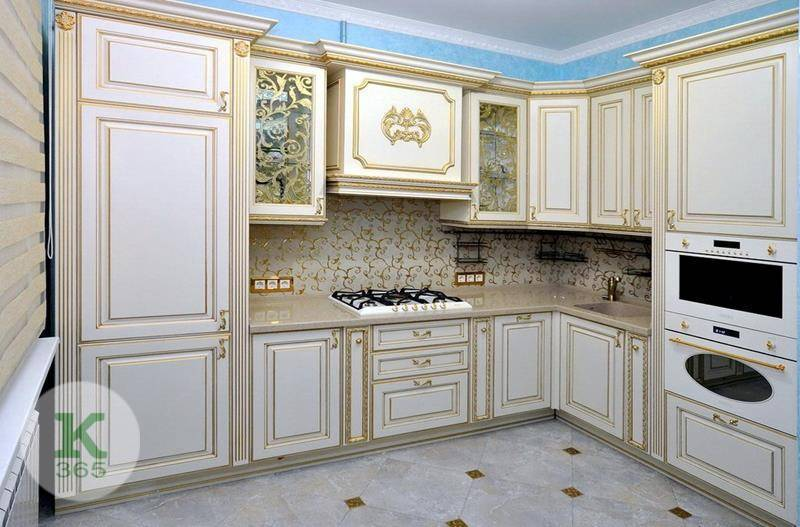 Кухня белая с золотом Ереван артикул: 167042