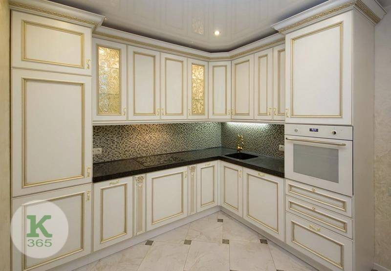 Кухня белая с золотом Флорида артикул: 168200