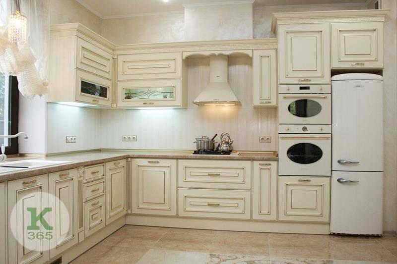 Кухня белая с золотом Техно артикул: 174641