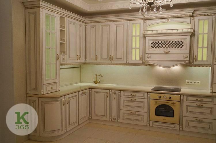 Кухня белая с золотом Платинум артикул: 176418